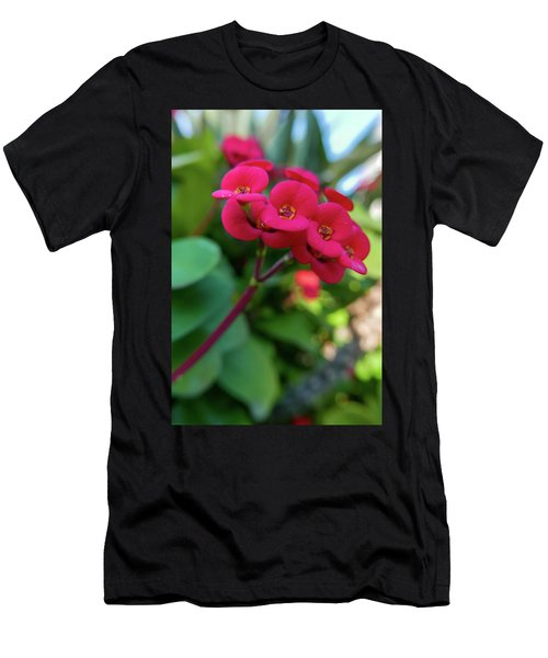Tiny Red Flowers Men's T-Shirt (Athletic Fit)
