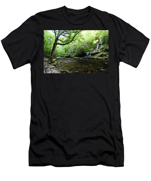 Tom Branch Falls On Deep Creek Men's T-Shirt (Athletic Fit)