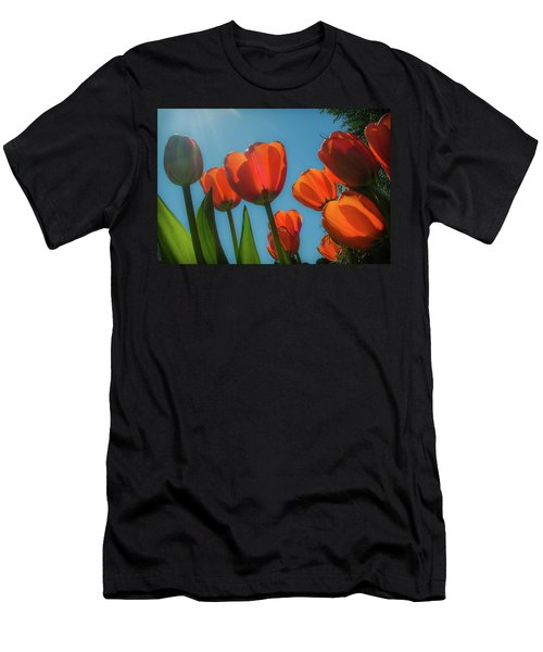 Towering Tulips Men's T-Shirt (Athletic Fit)