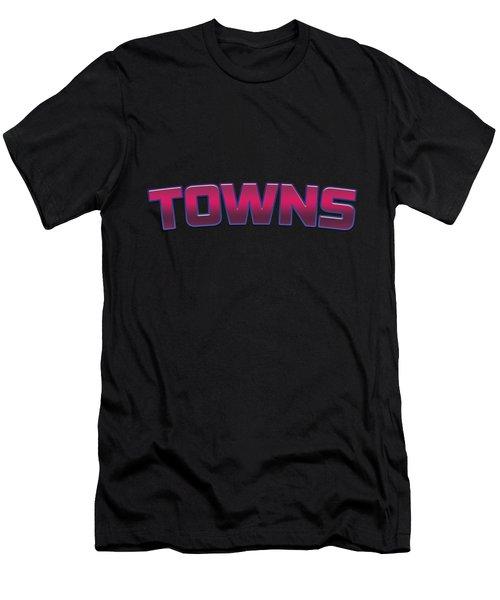 Towns #towns Men's T-Shirt (Athletic Fit)