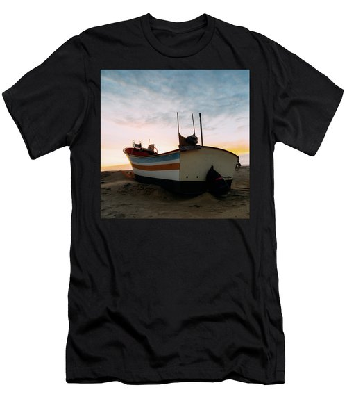 Traditional Wooden Fishing Boat Men's T-Shirt (Athletic Fit)