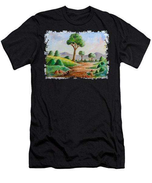 Trees And Flowers Men's T-Shirt (Athletic Fit)