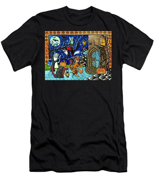 Trick Or Treat Halloween Cats Men's T-Shirt (Athletic Fit)