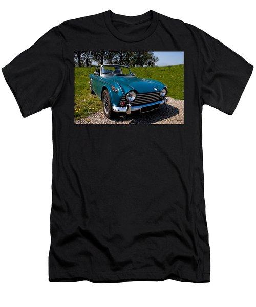 Triumph Tr5 Blue Men's T-Shirt (Athletic Fit)