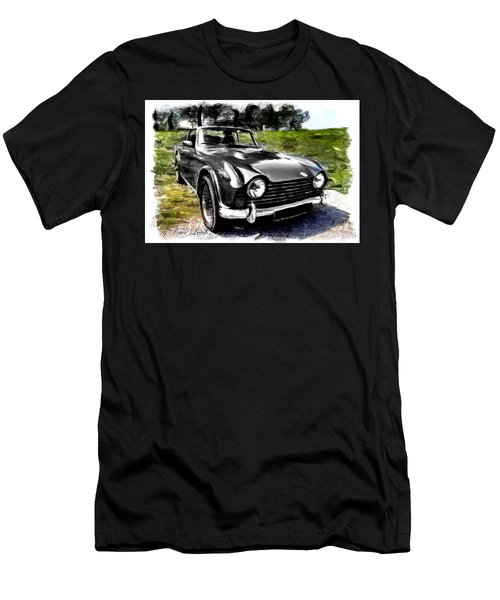 Triumph Tr5 Monochrome With Brushstrokes Men's T-Shirt (Athletic Fit)