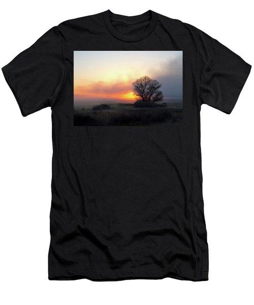 Tule Fog Sunrise  Men's T-Shirt (Athletic Fit)