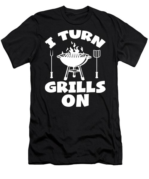 Turn Grills On Pun Bbq Barbecue Gift Men's T-Shirt (Athletic Fit)