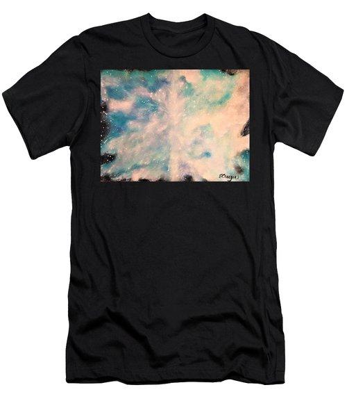 Turquoise Cosmic Cloud Men's T-Shirt (Athletic Fit)