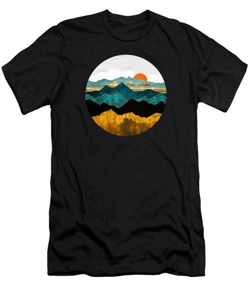Turquoise Vista Men's T-Shirt (Athletic Fit)