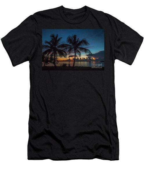Twin Palms Sunrise Men's T-Shirt (Athletic Fit)