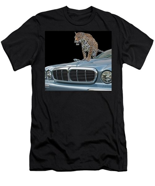 Men's T-Shirt (Athletic Fit) featuring the photograph Two Jaguars 1 by Larry Linton