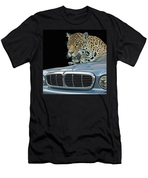 Men's T-Shirt (Athletic Fit) featuring the photograph Two Jaguars 2 by Larry Linton