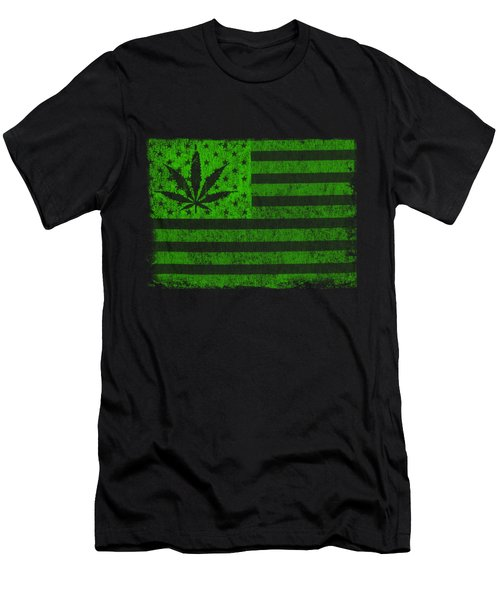 United States Of Cannabis Men's T-Shirt (Athletic Fit)