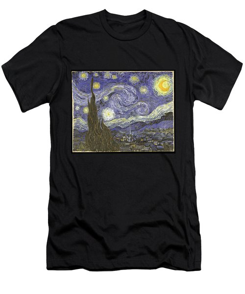 Van Goh Starry Night Men's T-Shirt (Athletic Fit)
