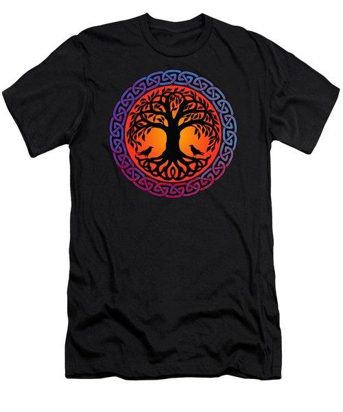 Viking Yggdrasil World Tree With Ravens Huginn Muninn Men's T-Shirt (Athletic Fit)