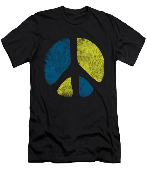 Vintage Peace Sign Men's T-Shirt (Athletic Fit)