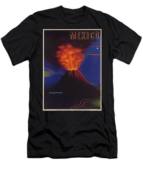 Vintage Travel Poster - Mexico Men's T-Shirt (Athletic Fit)