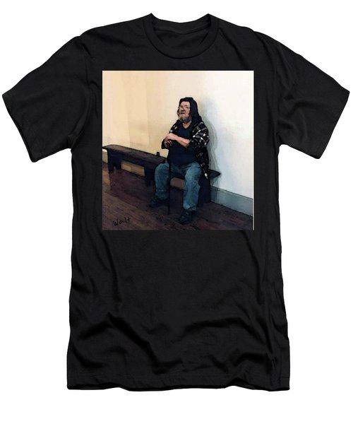 Walt Sitting Men's T-Shirt (Athletic Fit)