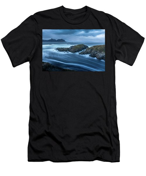 Water Flow At Stormy Sea Men's T-Shirt (Athletic Fit)