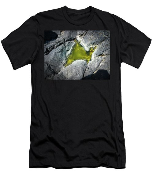 Men's T-Shirt (Athletic Fit) featuring the photograph Water On The Rocks 5 by Juan Contreras