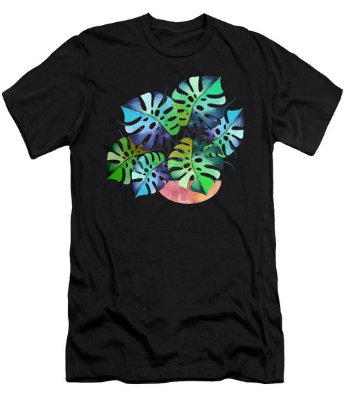 Watercolor Monstera Or One Fine Swiss Cheese Plant Men's T-Shirt (Athletic Fit)
