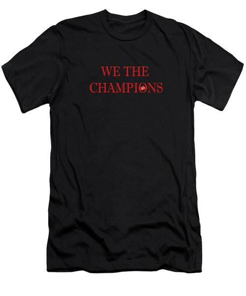 We The Champions Men's T-Shirt (Athletic Fit)