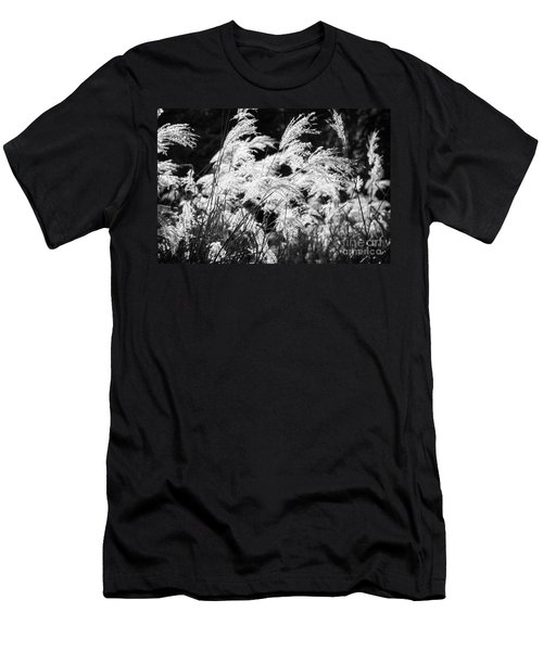 Weed Grass Black And White Men's T-Shirt (Athletic Fit)