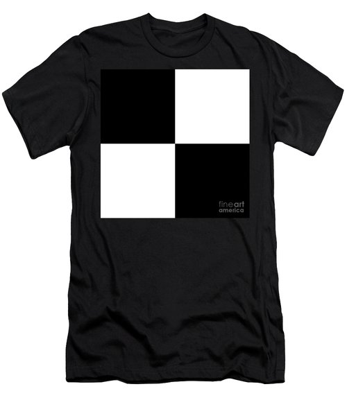 White And Black Squares - Ddh586 Men's T-Shirt (Athletic Fit)