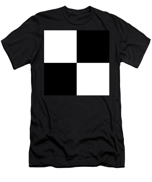 White And Black Squares - Ddh588 Men's T-Shirt (Athletic Fit)