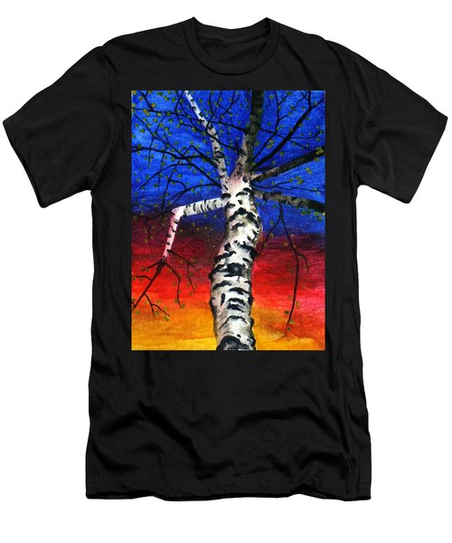 White Birch In Spring Men's T-Shirt (Athletic Fit)