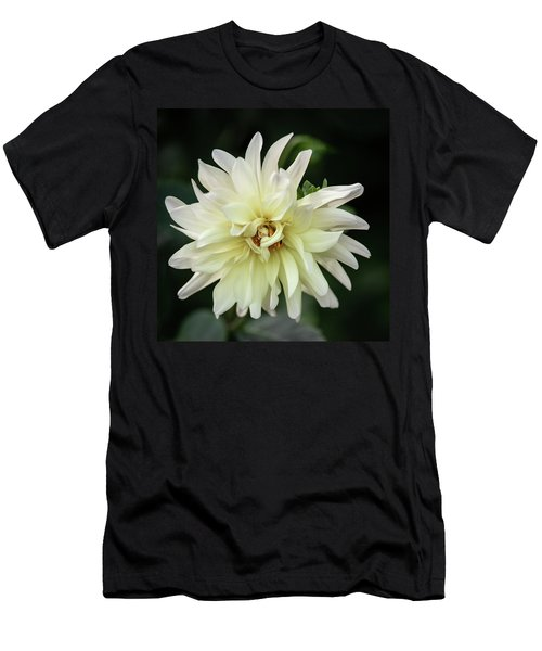 Men's T-Shirt (Athletic Fit) featuring the photograph White Dahlia Beauty by Dale Kincaid