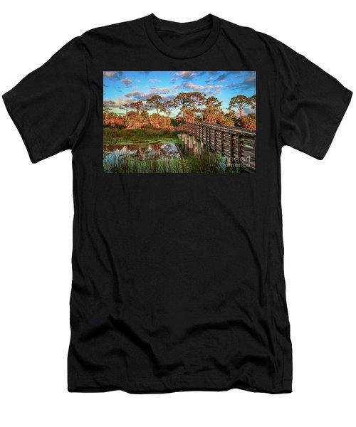 Winding Waters Boardwalk Men's T-Shirt (Athletic Fit)