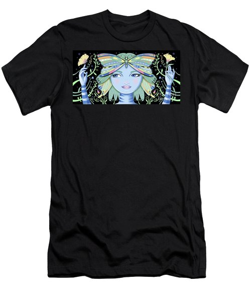 Insect Girl, Winga - Black Men's T-Shirt (Athletic Fit)