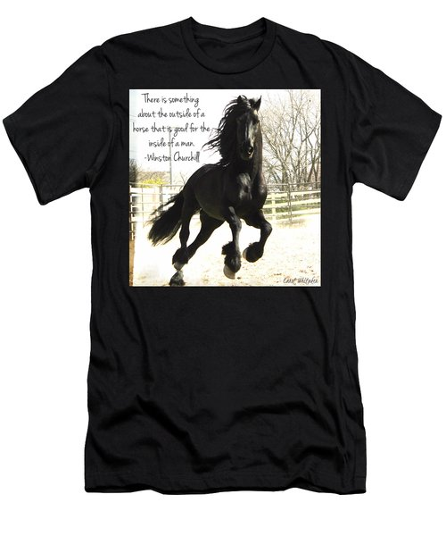 Winston Churchill Horse Quote Men's T-Shirt (Athletic Fit)