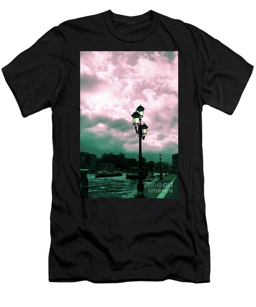 Winter Venice Lantern On The Embankment Men's T-Shirt (Athletic Fit)