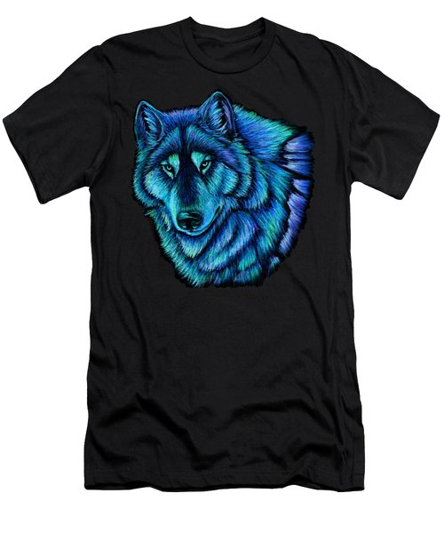 Wolf Aurora Men's T-Shirt (Athletic Fit)