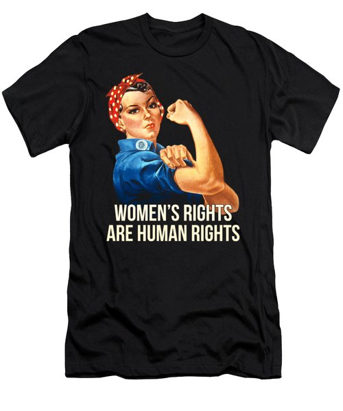 Womens Rights Are Human Rights Tshirt Men's T-Shirt (Athletic Fit)