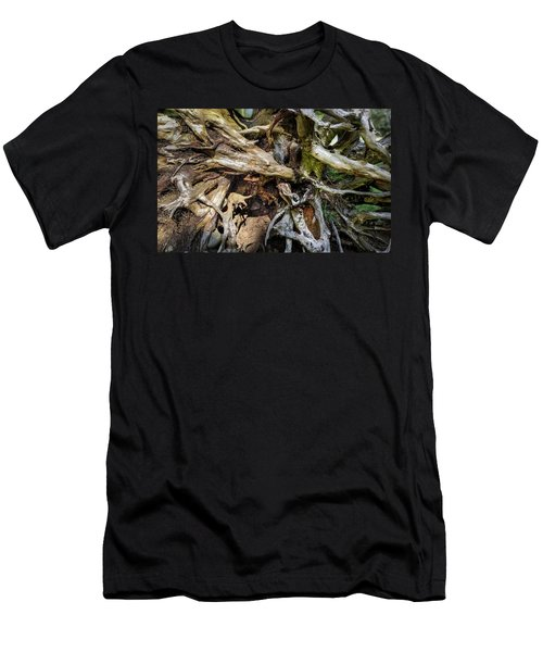Men's T-Shirt (Athletic Fit) featuring the photograph Wood Log In Nature No.8 by Juan Contreras