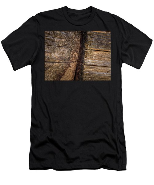 Wooden Wall Men's T-Shirt (Athletic Fit)