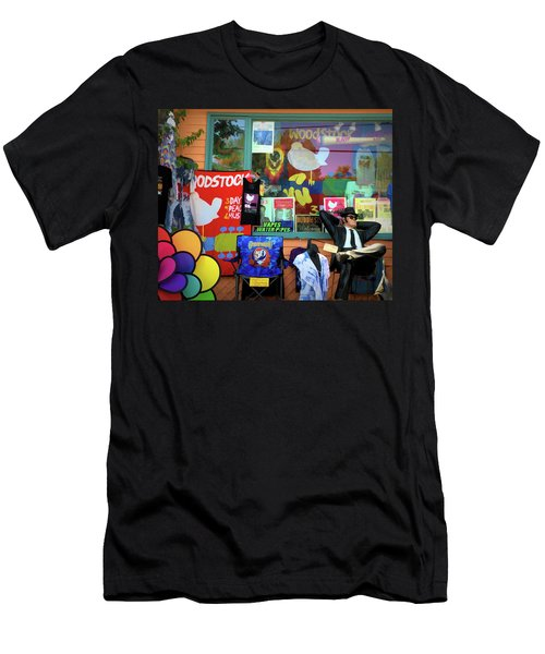 Woodstock Peace And Love 3 Men's T-Shirt (Athletic Fit)