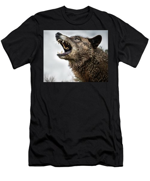 Woof Wolf Men's T-Shirt (Athletic Fit)