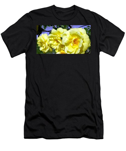 Yellow Climbing Roses Men's T-Shirt (Athletic Fit)