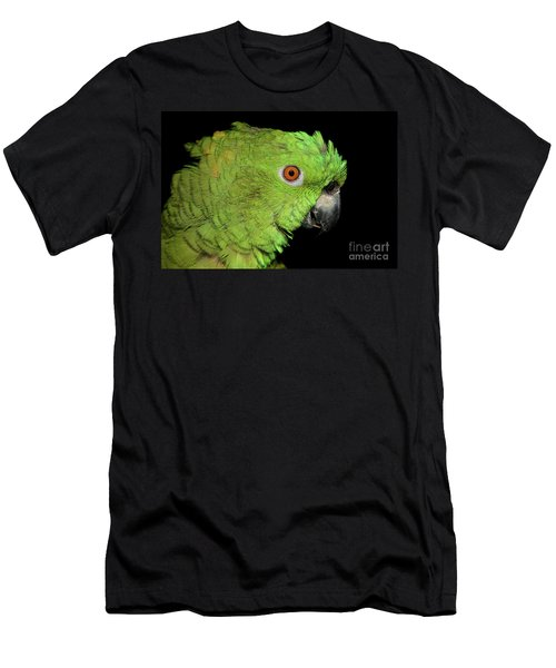 Men's T-Shirt (Athletic Fit) featuring the photograph Yellow-naped Amazon by Debbie Stahre
