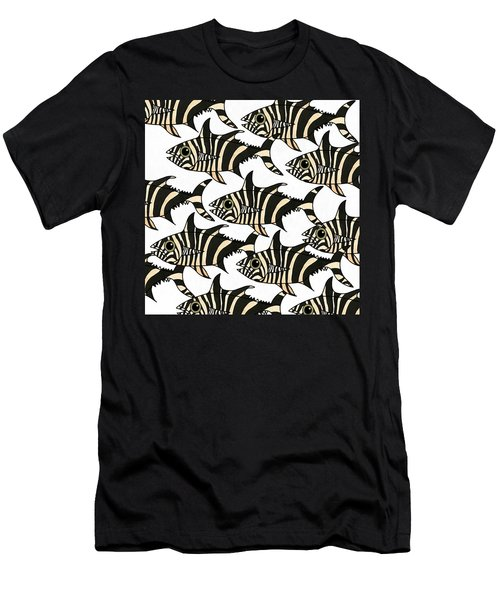 Men's T-Shirt (Athletic Fit) featuring the mixed media Zebra Fish 4 by Joan Stratton