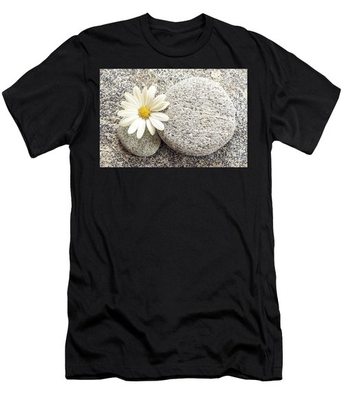 Zen Stone And Daisy Men's T-Shirt (Athletic Fit)