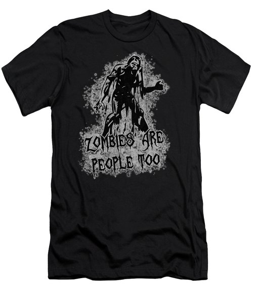 Zombies Are People Too Halloween Vintage Men's T-Shirt (Athletic Fit)