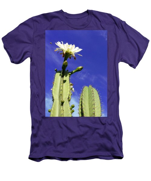 Flowering Cactus 2 Men's T-Shirt (Slim Fit) by Mariusz Kula