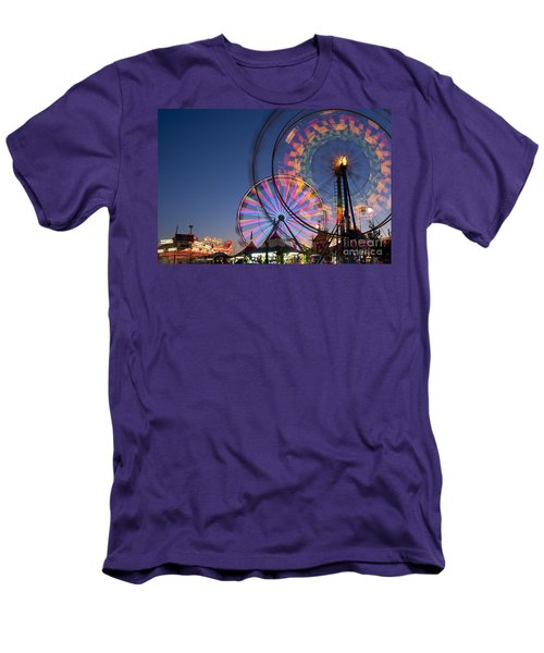 Evergreen State Fair With Ferris Wheel Men's T-Shirt (Athletic Fit)