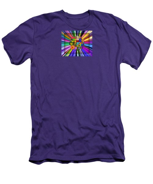 A Burst Of Flowers Men's T-Shirt (Slim Fit)