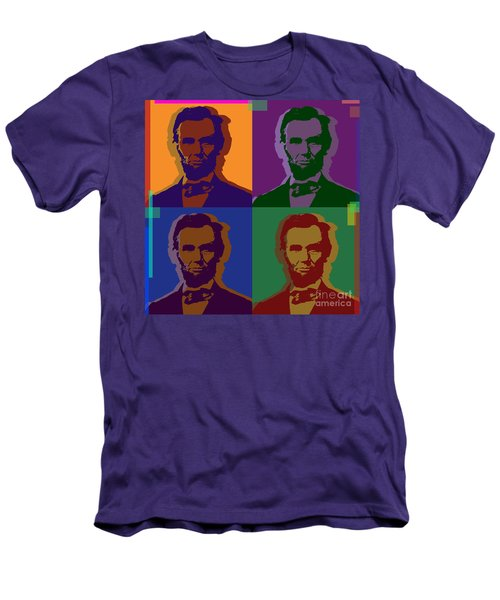 Abraham Lincoln Men's T-Shirt (Slim Fit) by Jean luc Comperat
